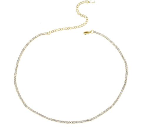 Small Tennis Necklace - Gold