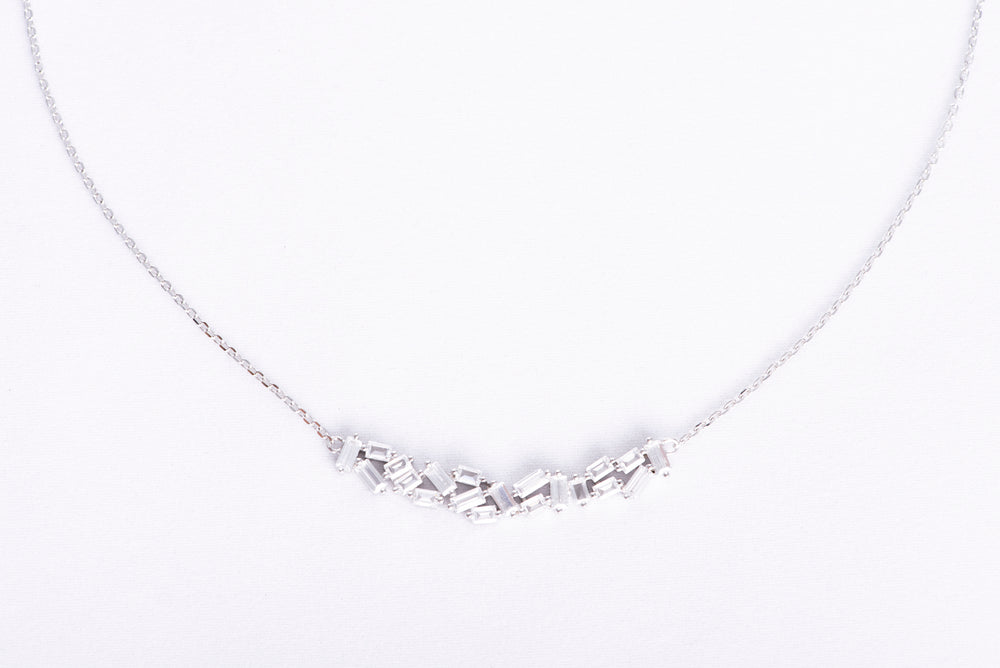 Silver Baguette Necklace