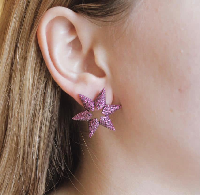 Small Star Pink Earring