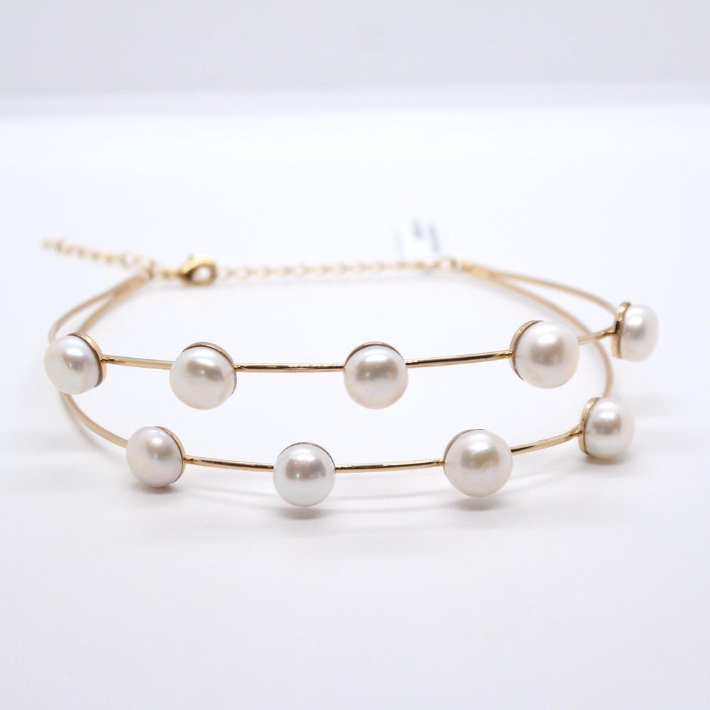 Collar Choker Pearls