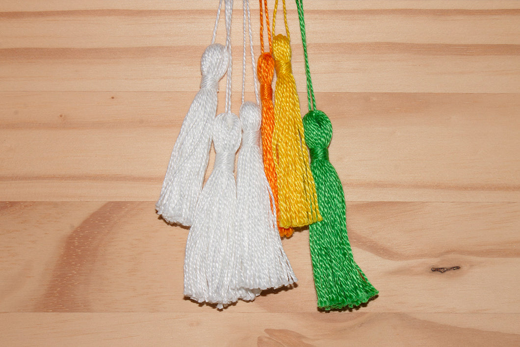 "Assorted 3"" cotton ornaments: Bundle of six"