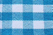 Load image into Gallery viewer, Checkered blue cotton placemats: Set of four, handwoven placemats, blue/white, Hampshire Hill