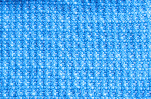 Textured blue cotton table runner, handwoven table runner, white on blue, Hampshire Hill