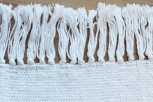 Load image into Gallery viewer, Plain white cotton throw, small handwoven blanket, white, Hampshire Hill