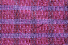 Load image into Gallery viewer, Purple plaid wool scarf, handwoven scarf, alpaca, silk, purple and pink, Hampshire Hill