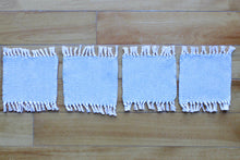 Load image into Gallery viewer, Plain grey cotton coasters: Set of four, handwoven coasters, grey on white, Hampshire Hill