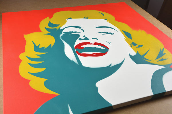 Screaming Marilyn - Green Goddess (Canvas)