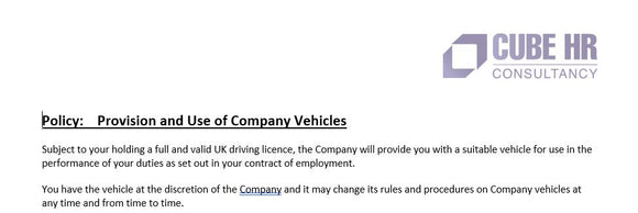 Driver Policy - Company Vehicle