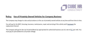 Driver Policy - Private Vehicle (Grey Fleet)