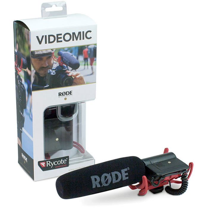 Rode VideoMic with Rycote Lyre Suspension System for hunting