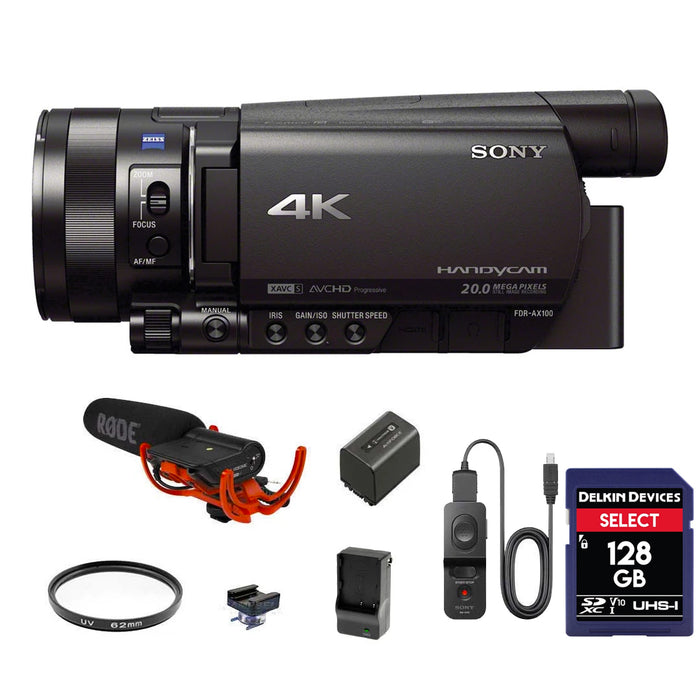 Sony FDR-AX100 4K Outdoor Package