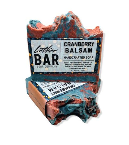 Cranberry Balsam Bar Soap by Lather Bar Soap Company