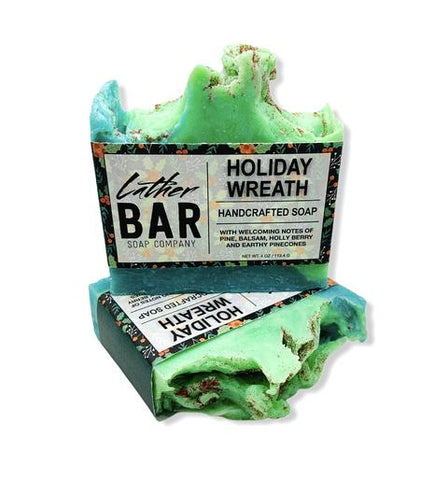 Holiday Wreath Bar Soap by Lather Bar Soap Company