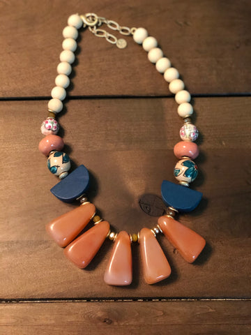 Barrow Mixed Stone Statement Necklace