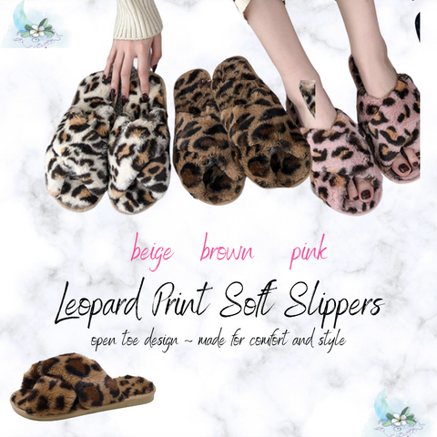 Leopard Print Soft Slippers