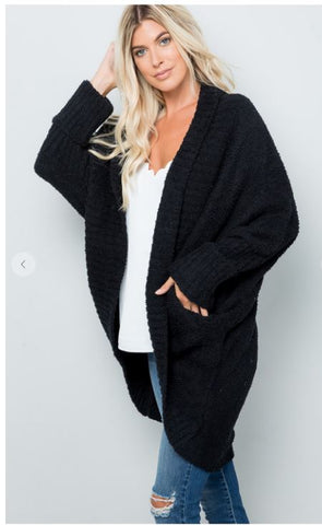 Fluffy Knit Cardigan