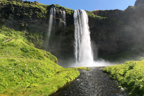 Icelandic waterfalls, car camping air mattress, sleeping in a car abroad, Visit Iceland, car camping tips