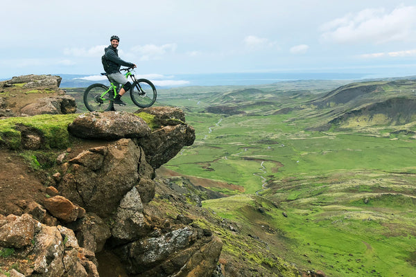 Mountain biking views, mountain vistas, car camping in Iceland, adventure camping, camping air mattress, outdoor adventure