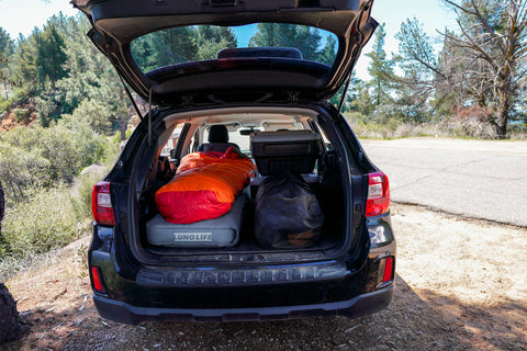 car camping essentials, car camping gear, travel must haves, gear for sleeping in a car