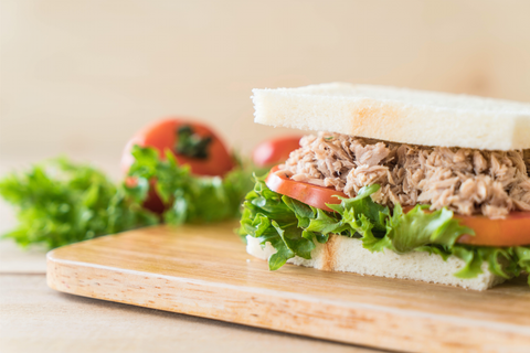 Protein-packed tuna salad can be a delicious and quick camping meal.