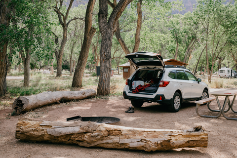 Subaru Outback camping, sleeping in a Subaru Outback, car camping tips best car to sleep in, how to sleep in a car, camping essentials
