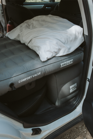 camping air mattress, camping mattress, full air mattress, Subaru outback camping, car air mattress, sleeping in a car, how to sleep in a car