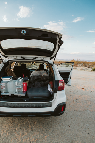 car camping tips, sleeping in a Subaru Outback, sleeping in car, how to sleep in a car, best car to sleep in, safe to sleep in your car, car camping essentials