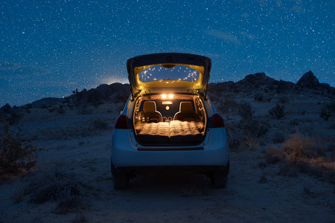 Sleep in your car beneath the stars on your camping air mattress, full air mattress, car bed, car air mattress