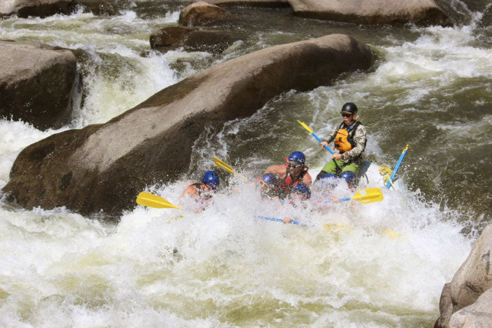 White water rafting adds epic adventure to any car camping trip, road trip, or overlanding trip.