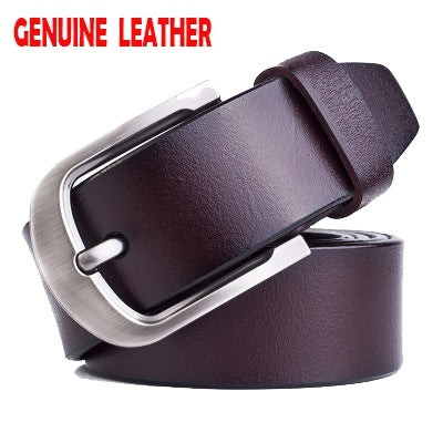 Pin Buckle Belt Real Genuine Leather Designer Belts For Men Top Quality Mens Belts