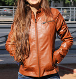 Leather Jacket for Women - Leather Genuine
