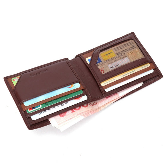 SMARTLB Genuine Leather Wallets Bifold Card Holders Slim Style GPS Charging Anti-theft