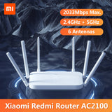 AC2100 Router- 2.4G 5.0GHz Dual-Band 2033Mbps Wifi Router- Repeater