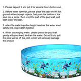 122/152cm Childrens Inflatable Family Size Swimming Pool