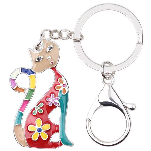 Cat Kitten Key Chain Key Ring