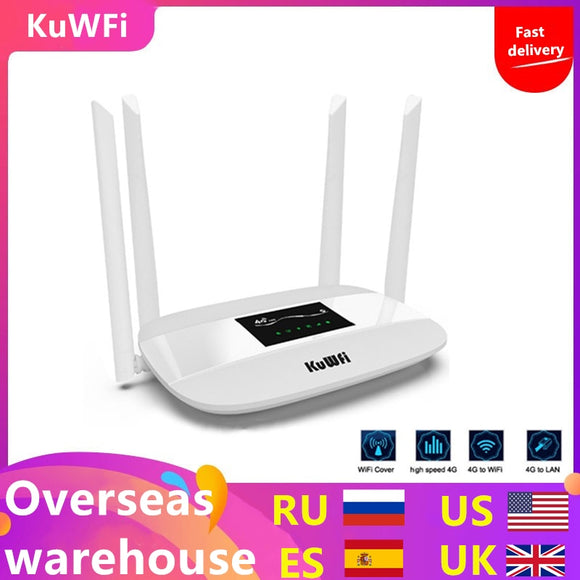 300Mbps Unlocked 4G LTE Wifi Router, With  LAN Port & SIM Card Slot