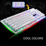 Wired Gaming Keyboard  USB BacklightErgonomic Comfortable 114 Keys