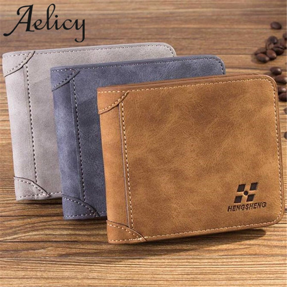 Hot New  Men and Boys Leather ID Credit Card Holder With  Coin Holder