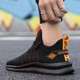 Mens Lighweight Lace Up  Sneakers Breathable Fabric - Ships From U.S.