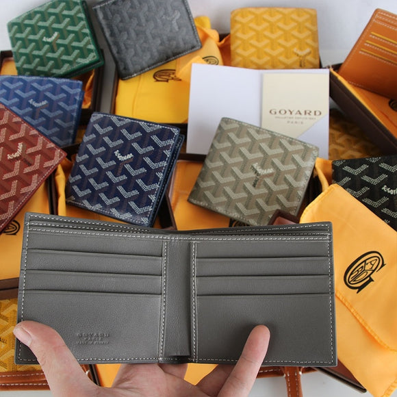 High Grade Business Man Short Wallet Genuine Leather 2 Fold Coin Purse Card Wallet