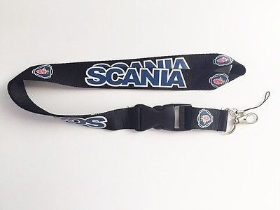 For SCANIA Logo Blue Lanyard ID Holder Keychain for Cellphone Keys MP3 Camera Security Badges IDs Badge Holder