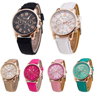 2019 New Geneva Luxury Brand Women Watches Rhinestone Lady Wristwatches Leather Fashion Causal Dress Watch Women Quartz Watch Br
