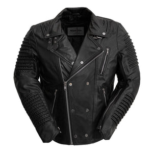 Biker Jacket Lambskin Leather - BROOKLYN - WBM2806 - Men's Black