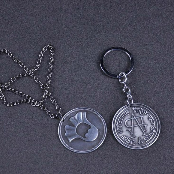 Game of Thrones Necklace A Song of Ice and Fire Faceless Coin Valar morghulis Jaqen H'ghar Aaliyah Badge Key Chain