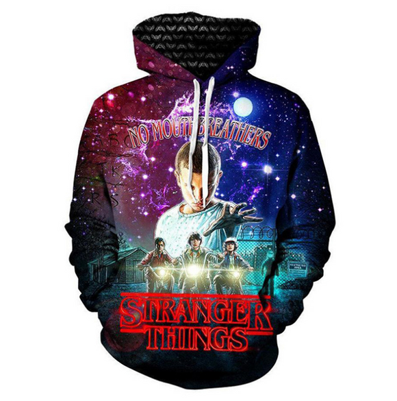 Stranger Things  Fashion 3D Print Hooded Hoodie Sweater  Sweatshirt
