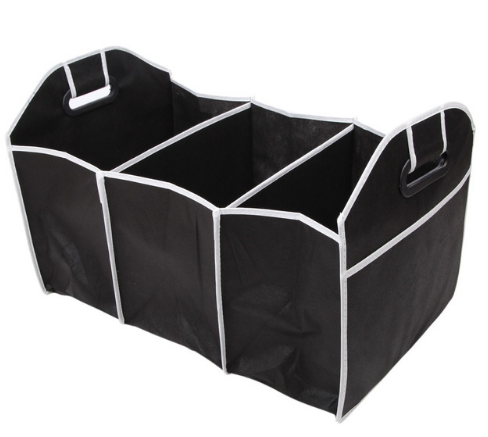 Collapsible Black Car Trunk Organizer Toys Food Storage Truck Cargo Container Bags Box
