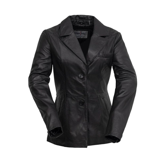 Ladies Sheepskin Car Coat - DAHLIA - WBL3001 - Black