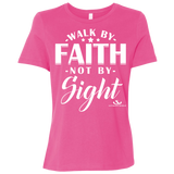 WALK BY FAITH NOT BY SIGHT  Ladies' Relaxed Jersey Short-Sleeve T-Shirt