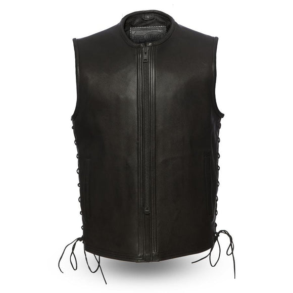 Biker Leather Vest    Venom   FIM654CPM  Mens