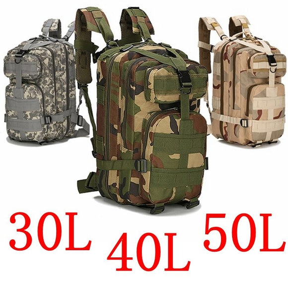 1000D Nylon Backpack 9 Colors 30L/40L/50L Waterproof Outdoor Military Rucksacks Sports Camping Tactical Backpack Hiking Trekking